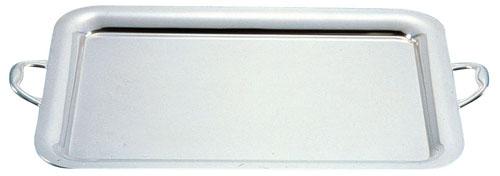 UK18-8プレーンタイプ角盆 22インチ[手付] 【 業務用 【 食器 盆 トレイ トレー ステンレス 】