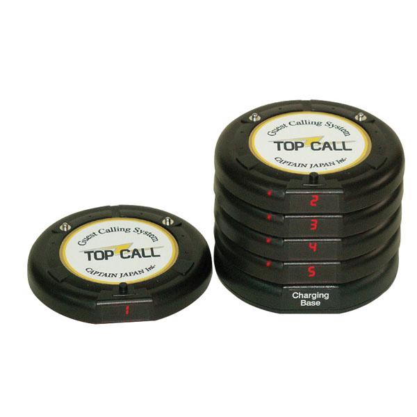 『 コードレスチャイム 』TOP CALL フラッシュコースター受信機【 メーカー直送/代金引換決済不可 】