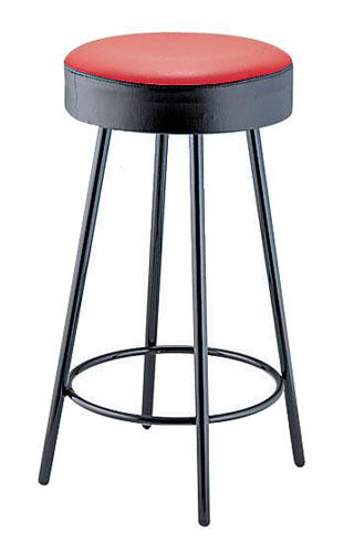 丸イス K-350[赤/黒] 座高720mm 【 メーカー直送/代金引換決済不可 】 【 業務用 【 家具 椅子 洋風丸いす 】