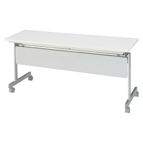 【まとめ買い10個セット品】 跳上式スタックテーブル 幕板付き KSMI560-NW ネオホワイト 【ECJ】