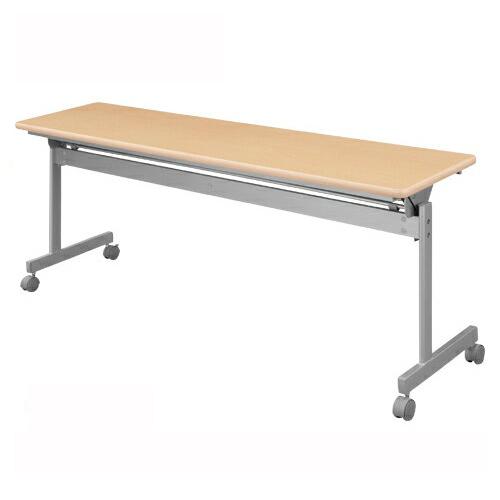 【まとめ買い10個セット品】 跳上式スタックテーブル 幕板無し KSI860-NW ネオホワイト 【ECJ】