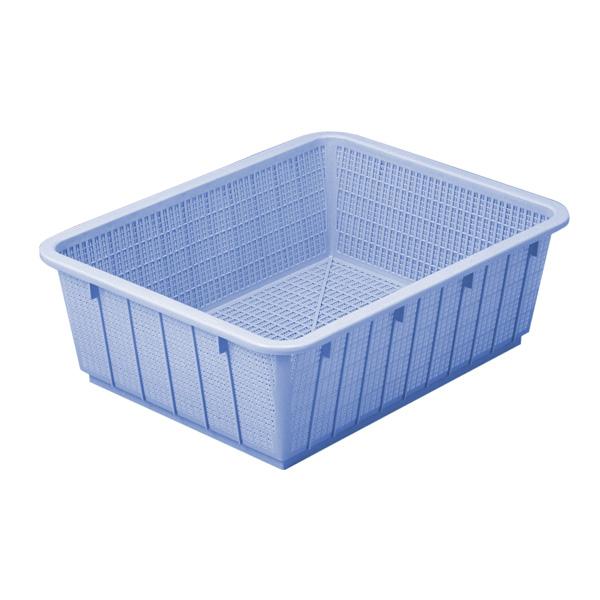 【即納】【まとめ買い10個セット品】 アシスト カラーざる 深49型 ブルー 02915-9 【ECJ】