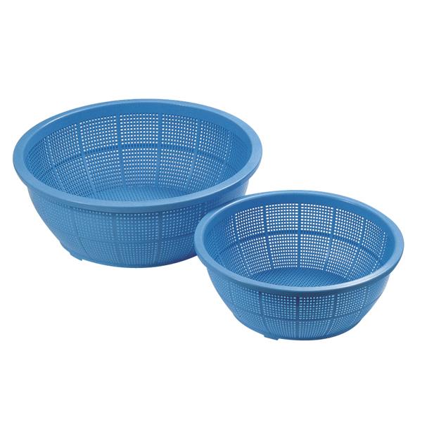 【即納】【まとめ買い10個セット品】イケダ DX丸ザル #420 ブルー【調理道具 厨房 キッチン用品 調理器具 台所 ツール ザル ざる 笊】 【ECJ】