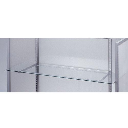 【まとめ買い10個セット品】 【業務用】ガラス棚セットW120cm オーバーハングタイプ ガラス8mm厚 D35cm【店舗什器 パネル ディスプレー 棚 店舗備品】【ECJ】