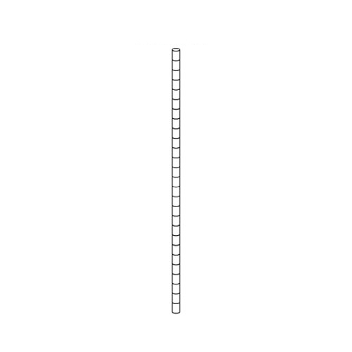 【まとめ買い10個セット品】 【業務用】ワイヤーラック ポール(φ25.4mm) H150cmタイプ 2本【店舗什器 パネル ディスプレー 棚 店舗備品】【ECJ】