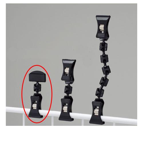 【まとめ買い10個セット品】 クリップポップ立て ブラック H7.2cm 20個【店舗什器 パネル 壁面 店舗備品 仕切 棚】【ECJ】