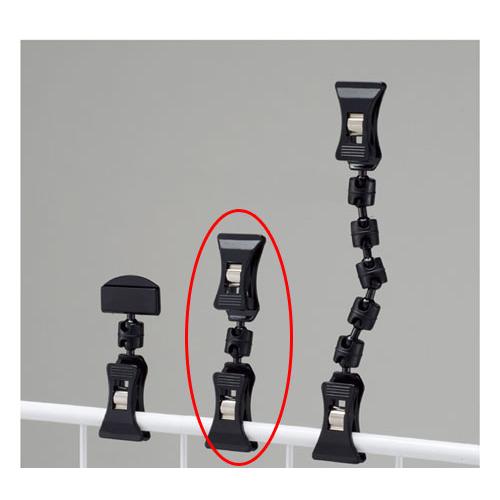 【まとめ買い10個セット品】 クリップポップ立て ブラック H9.4cm 20個【店舗什器 パネル 壁面 店舗備品 仕切 棚】【ECJ】
