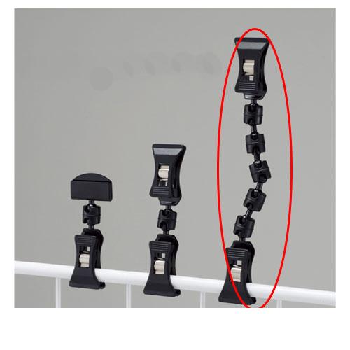 【まとめ買い10個セット品】 クリップポップ立て ブラック H16cm 10個【店舗什器 パネル 壁面 店舗備品 仕切 棚】【ECJ】