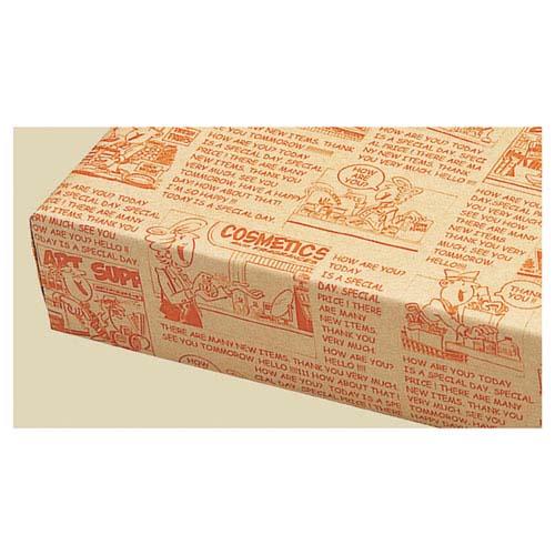 【まとめ買い10個セット品】 アメリカンコミック 包装紙 半裁 500枚【店舗什器 小物 ディスプレー ギフト ラッピング 包装紙 袋 消耗品 店舗備品】【ECJ】
