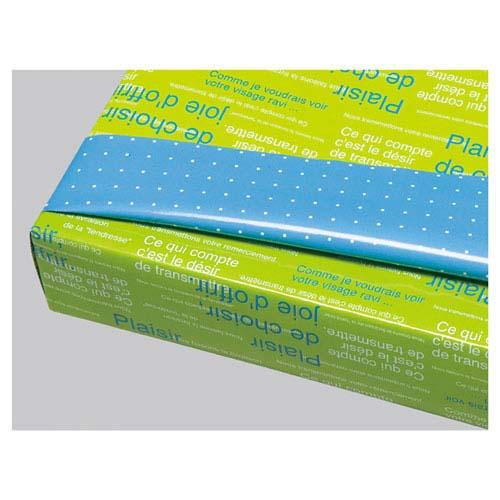 【まとめ買い10個セット品】 リバーシブル ブルー&グリーン 50枚【店舗什器 小物 ディスプレー ギフト ラッピング 包装紙 袋 消耗品 店舗備品】【ECJ】