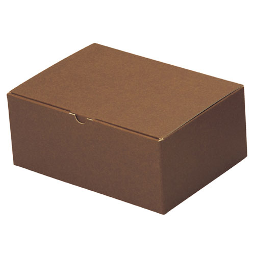【まとめ買い10個セット品】 ギフトボックス ブラウン 26×18.5×10.5 10枚【店舗什器 小物 ディスプレー ギフト ラッピング 包装紙 袋 消耗品 店舗備品】【ECJ】