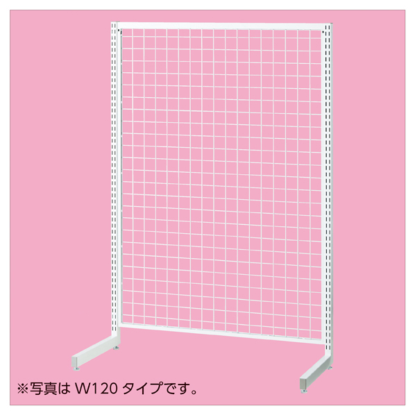 【まとめ買い10個セット品】 SR90強化型片面本体ホワイト H180cm 【ECJ】