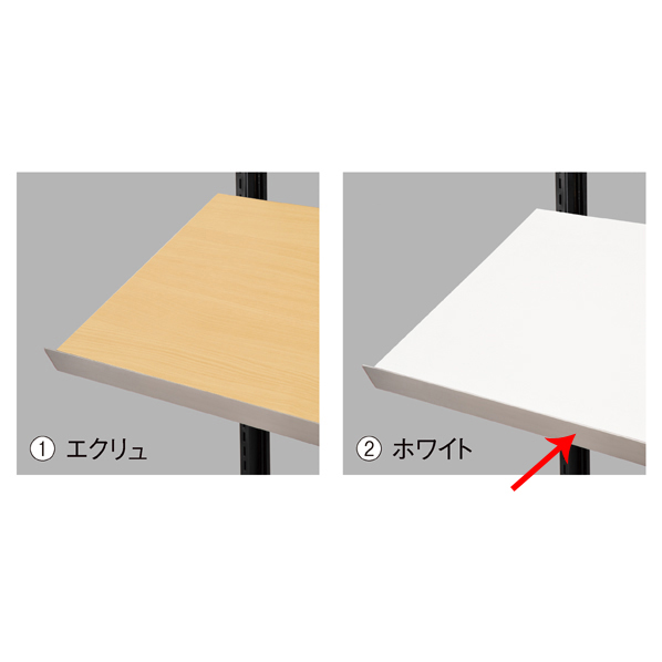 大人の上質  【まとめ買い10個セット品】 傾斜木棚セットW120×D35cm ホワイト SUSコボレ止+木棚+傾斜木棚ブラックT×2 【ECJ】, e-shop PLUS ONE 2752e7b1