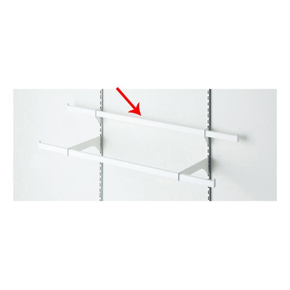 【まとめ買い10個セット品】 貫通式ミニ角バーセット W90×D3.5cm ホワイト 芯々58.8cm 【ECJ】
