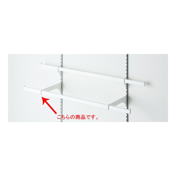 【まとめ買い10個セット品】 貫通式ミニ角バーセット W90×D25cm ホワイト 芯々58.8cm 【ECJ】