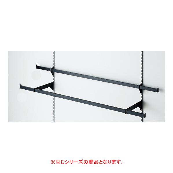 【まとめ買い10個セット品】 貫通式ミニ角バーセット W120×D5cm ブラック 芯々88.8cm 【ECJ】
