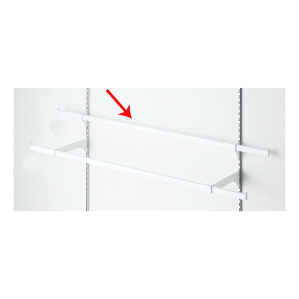 【まとめ買い10個セット品】 貫通式ミニ角バーセット W120×D3.5cm ホワイト 芯々88.8cm 【ECJ】