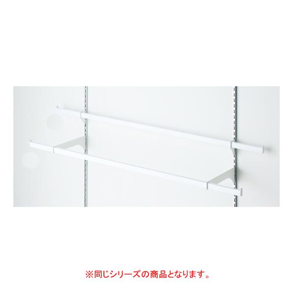【まとめ買い10個セット品】 貫通式ミニ角バーセット W120×D5cm ホワイト 芯々88.8cm 【ECJ】