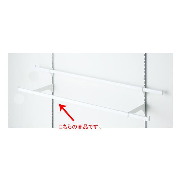 【まとめ買い10個セット品】 貫通式ミニ角バーセット W120×D25cm ホワイト 芯々88.8cm 【ECJ】
