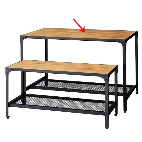 【まとめ買い10個セット品】 ラスティック柄 ディスプレーテーブル W120.6×D80.6×H75cm 【ECJ】
