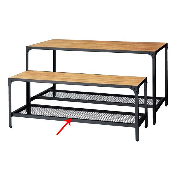 【まとめ買い10個セット品】 ラスティック柄 ディスプレーテーブル W135.6×D45.6×H50cm 【ECJ】
