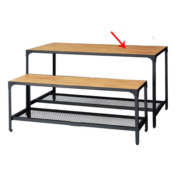 【まとめ買い10個セット品】 ラスティック柄 ディスプレーテーブル W150.6×D80.6×H75cm 【ECJ】