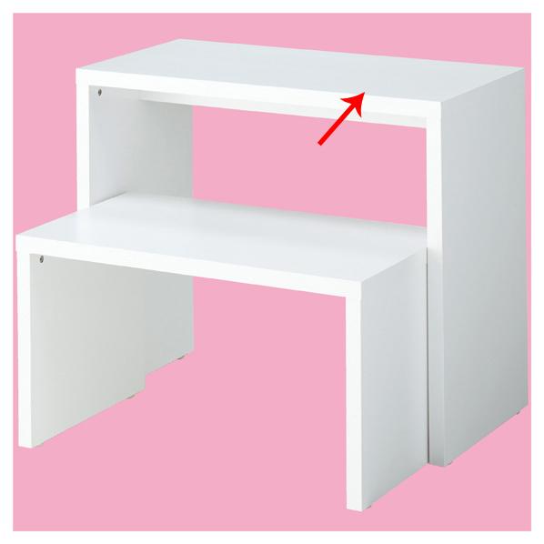 【まとめ買い10個セット品】 木製コの字型テーブル 大 ホワイト 【ECJ】