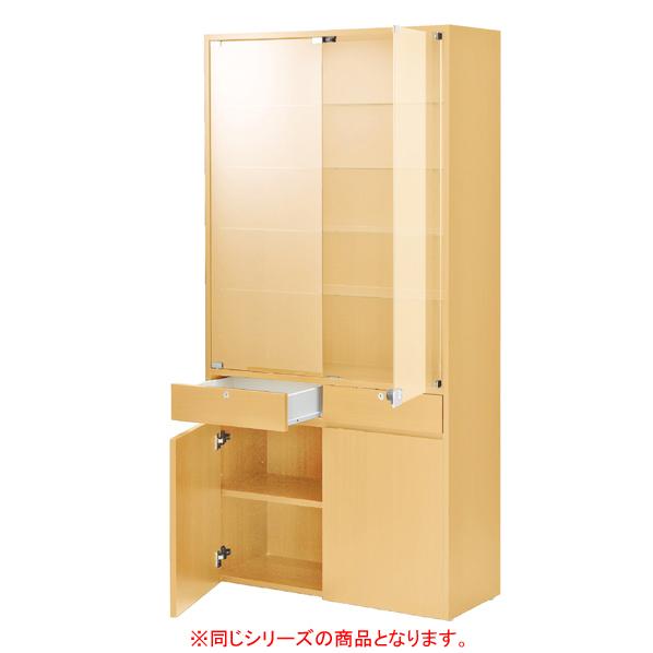 【まとめ買い10個セット品】 木製壁面用ショーケース ダウンライト付きエクリュ 【ECJ】