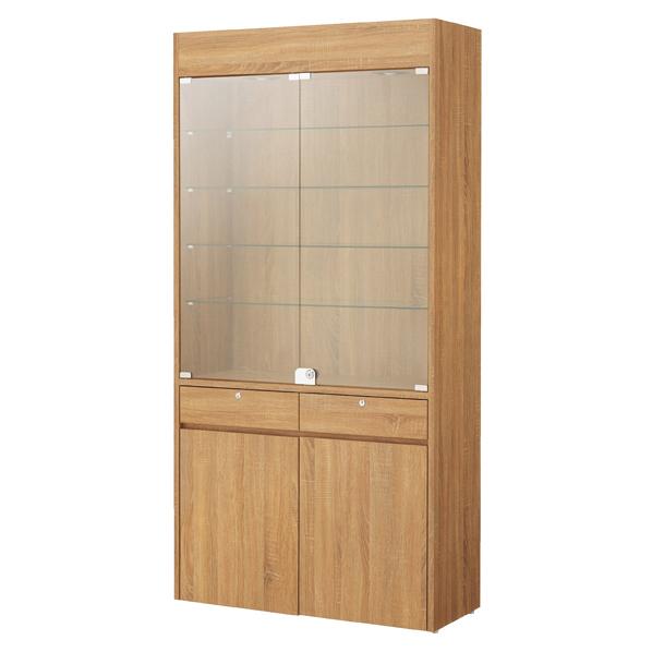 【まとめ買い10個セット品】 木製壁面用ショーケース ダウンライト付きラスティック柄 【ECJ】