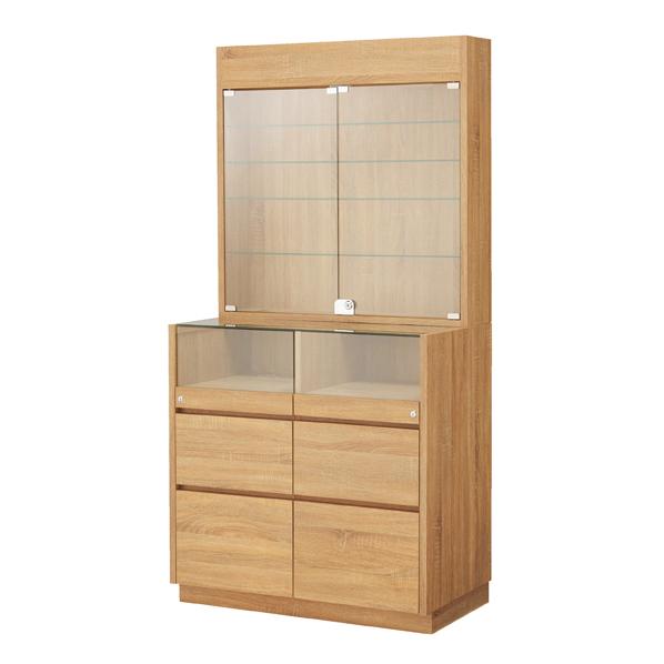 【まとめ買い10個セット品】 木製壁面用L型ショーケース ラスティック柄 【ECJ】