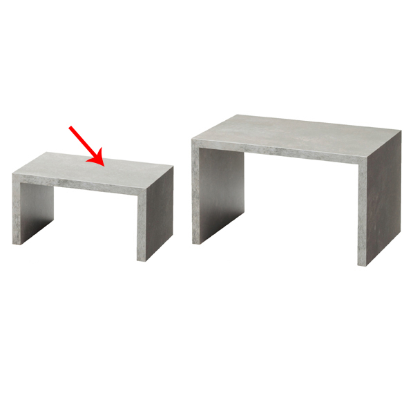 【まとめ買い10個セット品】 木製コの字ディスプレイ 小 セメント柄 【ECJ】