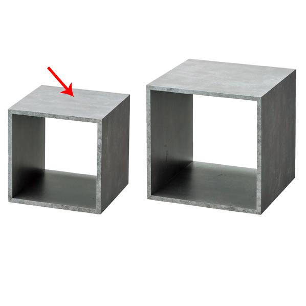 【まとめ買い10個セット品】 木製ディスプレイボックス 20cm角 セメント柄 【ECJ】