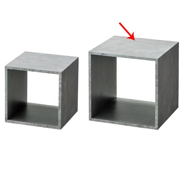 【まとめ買い10個セット品】 木製ディスプレイボックス 25cm角 セメント柄 【ECJ】