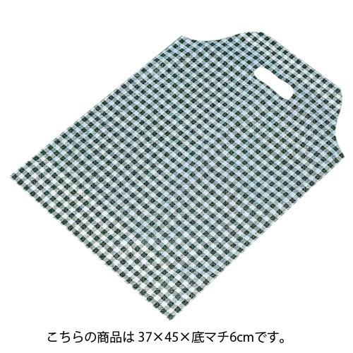 格子柄 黒 37×45×底マチ6 2000枚【ECJ】