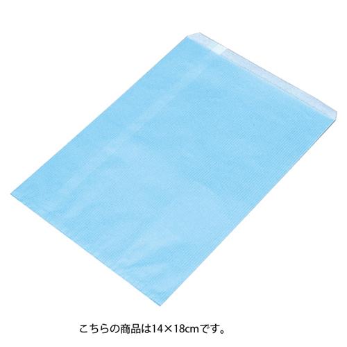 【まとめ買い10個セット品】 筋入りカラー無地 ブルー 14×18 6000枚【ECJ】