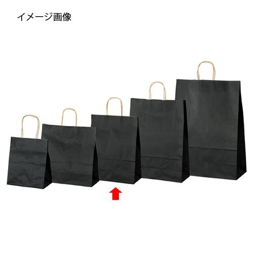 【まとめ買い10個セット品】 カラー手提げ紙袋 黒 27×8×34 200枚【店舗什器 小物 ディスプレー ギフト ラッピング 包装紙 袋 消耗品 店舗備品】【ECJ】