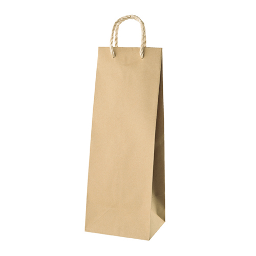【まとめ買い10個セット品】 細長バッグ 茶無地 17×16×47.5 25枚【店舗什器 小物 ディスプレー ギフト ラッピング 包装紙 袋 消耗品 店舗備品】【ECJ】
