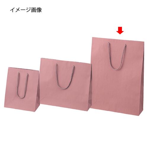 【まとめ買い10個セット品】 カラー手提げ紙袋 あずき 33×10×45 100枚【店舗什器 小物 ディスプレー ギフト ラッピング 包装紙 袋 消耗品 店舗備品】【ECJ】