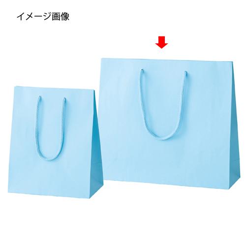 【まとめ買い10個セット品】 カラー手提げ紙袋 ブルー 33×10×29 100枚【店舗什器 小物 ディスプレー ギフト ラッピング 包装紙 袋 消耗品 店舗備品】【ECJ】