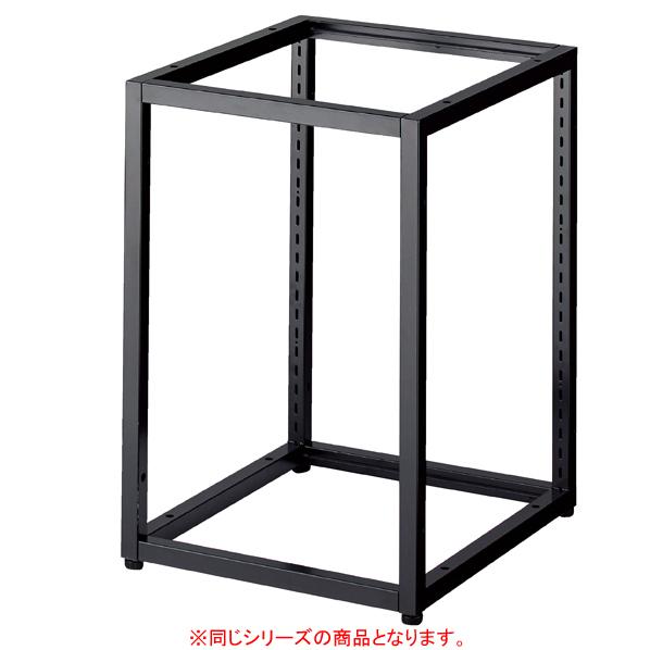 【まとめ買い10個セット品】 ブロックフレーム本体 W40×H120cm ブラック 連結金具2個付き 【ECJ】