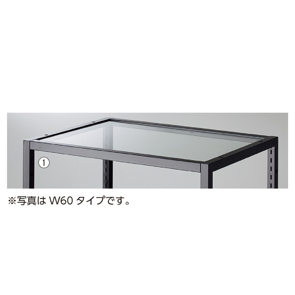 【まとめ買い10個セット品】 ブロックフレームW40cm用透明ガラス板5mm厚 W361×D418×t5mm 【ECJ】