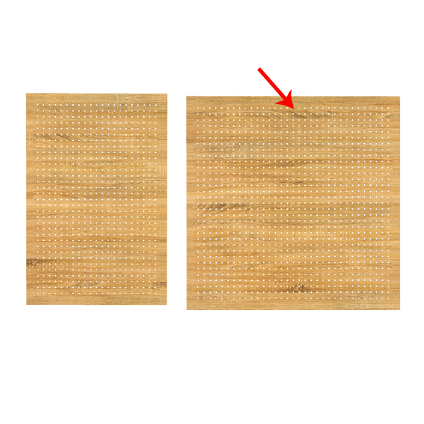 【まとめ買い10個セット品】 有孔ボードパネル 90×90cm ラスティック柄 壁面取付き金具セット 【ECJ】