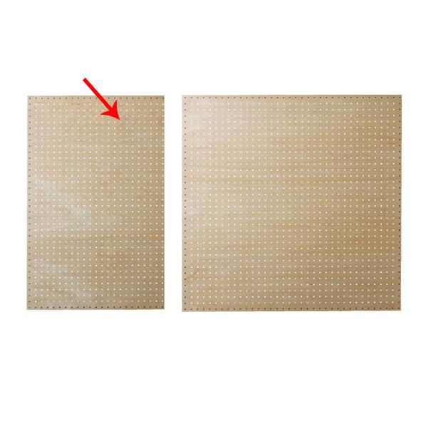 【まとめ買い10個セット品】 有孔ボードパネル 60×90cm シナ クリア塗装 壁面取付き金具セット 【ECJ】
