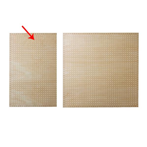 【まとめ買い10個セット品】 有孔ボードパネル 60×90cm シナ クリア塗装 スリット取付き金具セット 【ECJ】