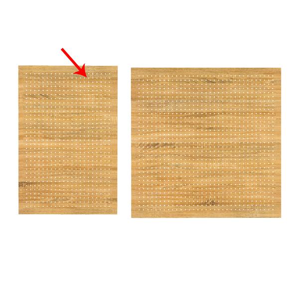 【まとめ買い10個セット品】 有孔ボードパネル 60×90cm ラスティック 1枚 角バー取付き金具セット 【ECJ】