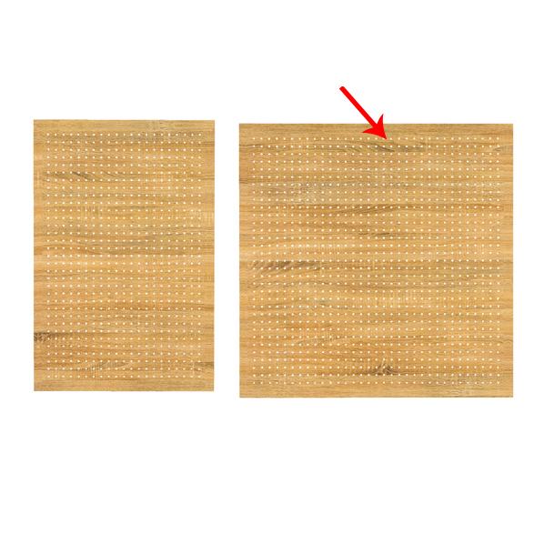 【まとめ買い10個セット品】 有孔ボードパネル 90×90cm ラスティック 1枚 角バー取付き金具セット 【ECJ】