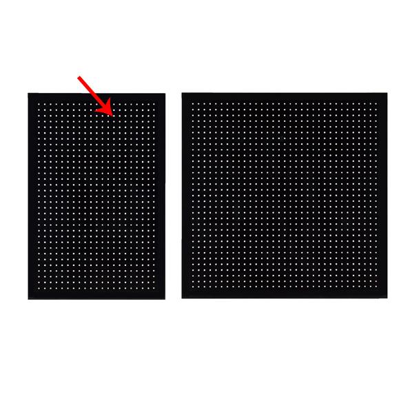 【まとめ買い10個セット品】 有孔ボードパネル 60×90cm ブラック 1枚 角バー取付き金具セット 【ECJ】