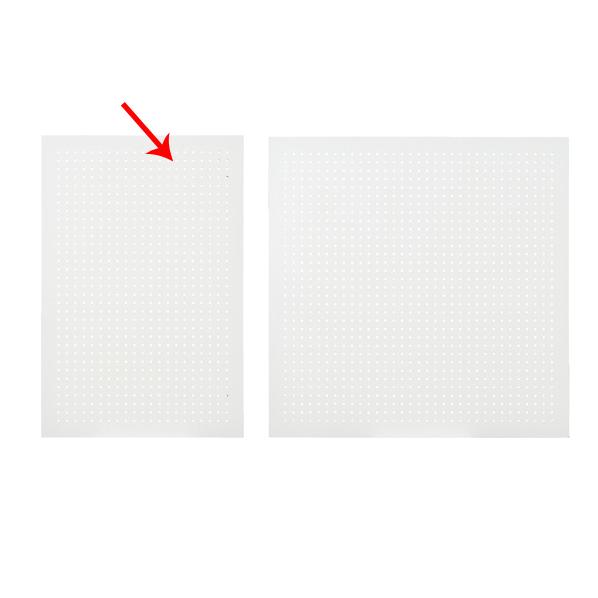 【まとめ買い10個セット品】 有孔ボードパネル 60×90cm ホワイト 1枚 角バー取付き金具セット 【ECJ】