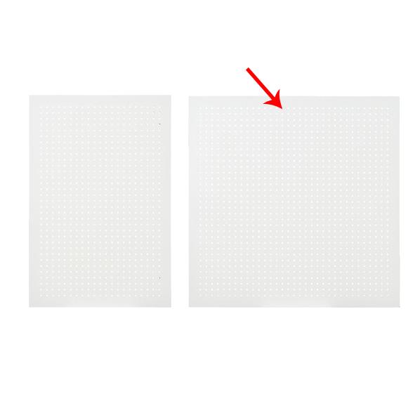 【まとめ買い10個セット品】 有孔ボードパネル 90×90cm ホワイト 1枚 角バー取付き金具セット 【ECJ】