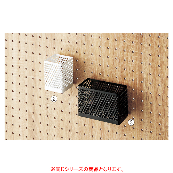 【まとめ買い10個セット品】 有孔ボード用小物入れ大 ホワイト 【ECJ】
